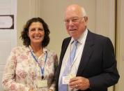 Graham Hines, Director de The Sherry Institute of Spain y Graziella González RRPP de Bodegas Faustino González