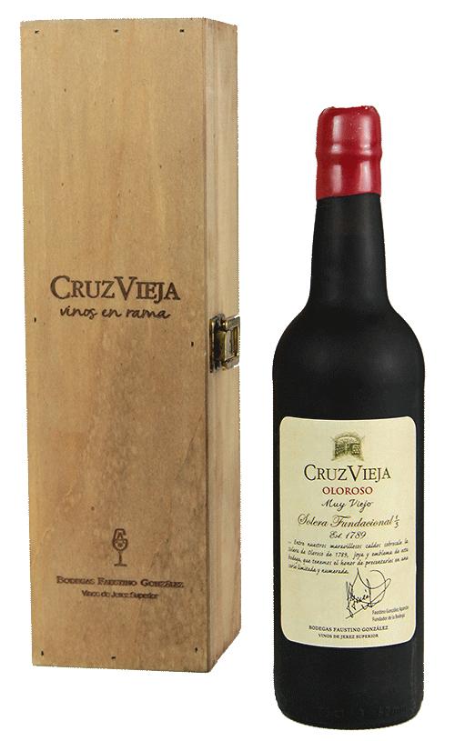 Botella Cruz Vieja Fundacional con caja